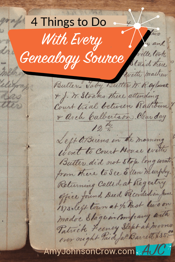 No matter what source you're using for your genealogy, there are 4 things you should do with it.  #genealogy #familyhistory #ancestry