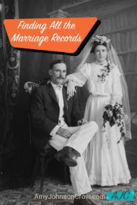 Finding Marriage Records