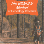 The Genealogy Research Process: The WANDER Method