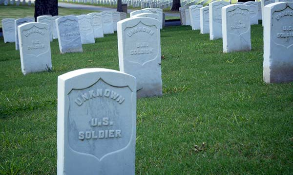 Tombstones of Unknown U.S. Soldiers, Little Rock National Cemetery