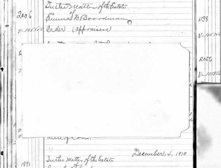 redacted probate court docket